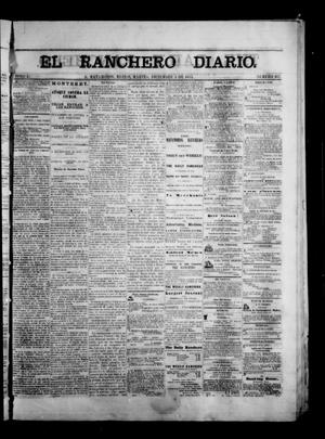 Primary view of object titled 'The Daily Ranchero. (Matamoros, Mexico), Vol. 1, No. 167, Ed. 1 Tuesday, December 5, 1865'.
