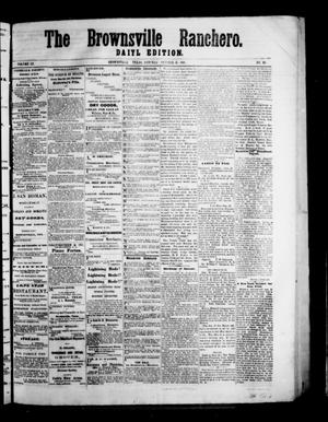 Primary view of The Brownsville Ranchero. (Brownsville, Tex.), Vol. 3, No. 191, Ed. 1 Sunday, October 11, 1868