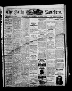 Primary view of object titled 'The Daily Ranchero. (Brownsville, Tex.), Vol. 5, Ed. 1 Thursday, September 16, 1869'.