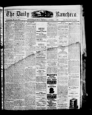 Primary view of object titled 'The Daily Ranchero. (Brownsville, Tex.), Vol. 5, Ed. 1 Thursday, October 7, 1869'.