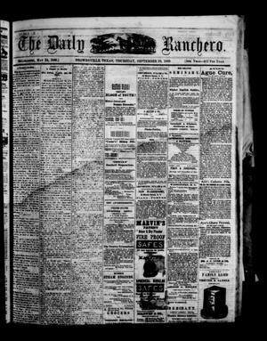 Primary view of object titled 'The Daily Ranchero. (Brownsville, Tex.), Vol. 5, Ed. 1 Thursday, September 23, 1869'.