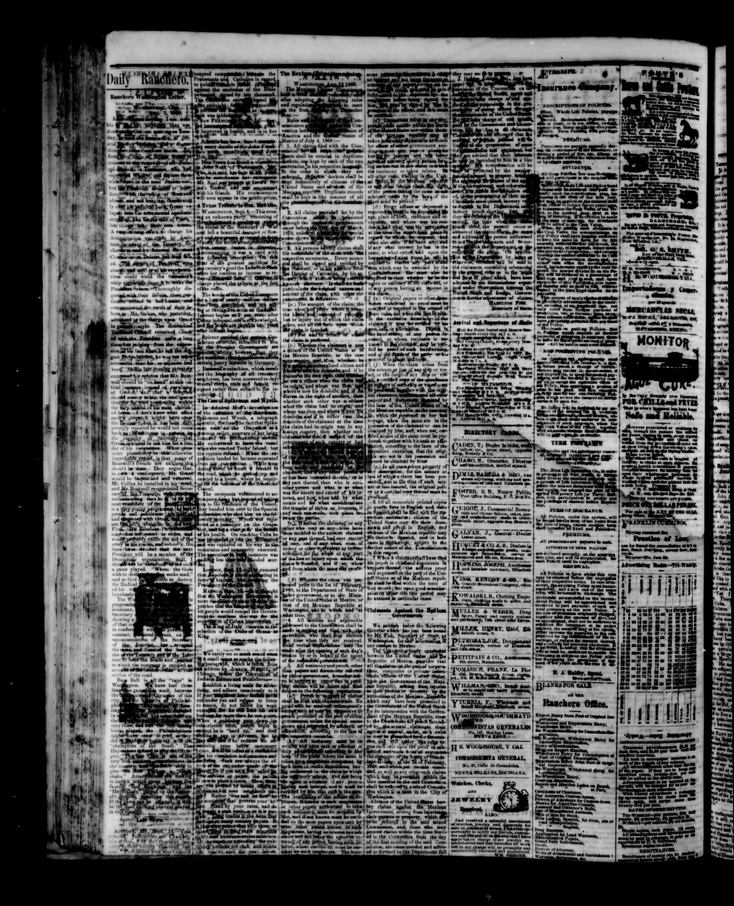 The Daily Ranchero. (Brownsville, Tex.), Vol. 5, Ed. 1 Tuesday, September 28, 1869                                                                                                      [Sequence #]: 4 of 4