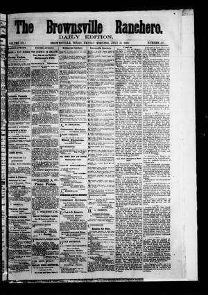 Primary view of The Brownsville Ranchero. (Brownsville, Tex.), Vol. 3, No. 117, Ed. 1 Friday, July 31, 1868