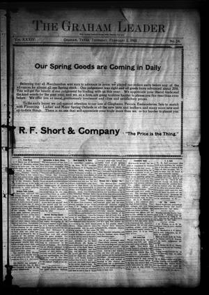 Primary view of object titled 'The Graham Leader (Graham, Tex.), Vol. 34, No. 24, Ed. 1 Thursday, February 3, 1910'.