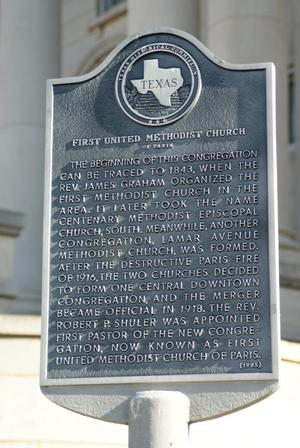 Primary view of object titled 'First United Methodist Church THC  Marker'.