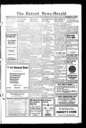 Primary view of object titled 'The Detroit News-Herald (Detroit, Tex.), Vol. 25, No. 25, Ed. 1 Thursday, September 18, 1952'.