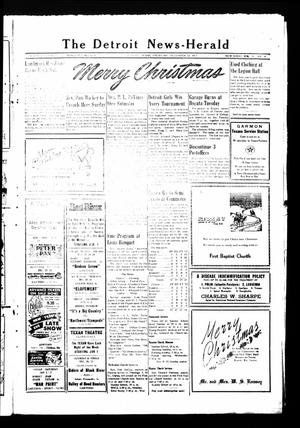 Primary view of object titled 'The Detroit News-Herald (Detroit, Tex.), Vol. 26, No. [39], Ed. 1 Thursday, December 24, 1953'.