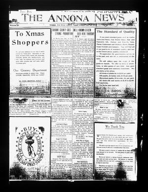 Primary view of object titled 'The Annona News (Annona, Tex.), Vol. 10, No. 6, Ed. 1 Friday, December 20, 1918'.
