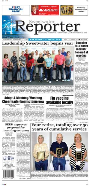 Sweetwater Reporter (Sweetwater, Tex.), Vol. 114, No. 204, Ed. 1 Wednesday, September 12, 2012