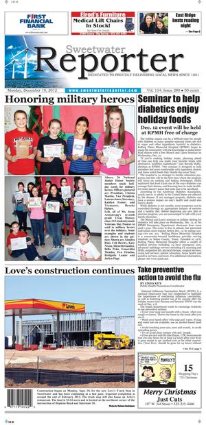 Sweetwater Reporter (Sweetwater, Tex.), Vol. 114, No. 280, Ed. 1 Monday, December 10, 2012