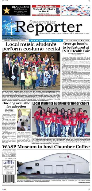Sweetwater Reporter (Sweetwater, Tex.), Vol. 114, No. 251, Ed. 1 Tuesday, November 6, 2012