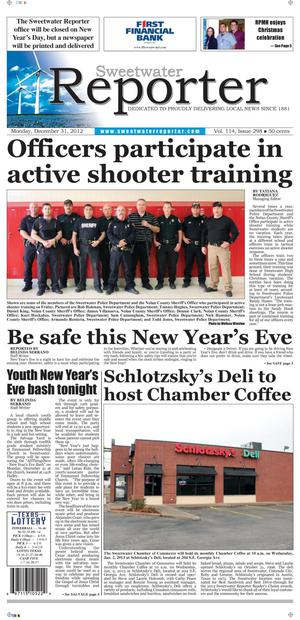 Sweetwater Reporter (Sweetwater, Tex.), Vol. 114, No. 298, Ed. 1 Monday, December 31, 2012