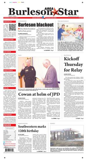 Burleson Area Star (Burleson, Tex.), Vol. 49, No. 22, Ed. 1 Wednesday, January 8, 2014