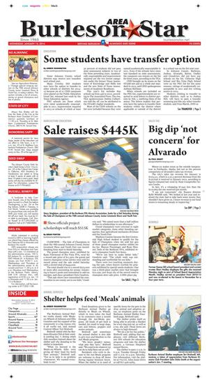 Burleson Area Star (Burleson, Tex.), Vol. 49, No. 24, Ed. 1 Wednesday, January 15, 2014