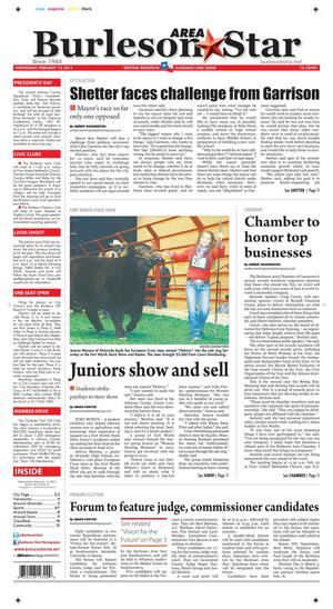 Burleson Area Star (Burleson, Tex.), Vol. 49, No. 32, Ed. 1 Wednesday, February 12, 2014