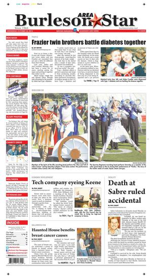 Burleson Area Star (Burleson, Tex.), Vol. 48, No. 104, Ed. 1 Wednesday, October 23, 2013