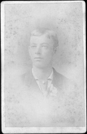 Primary view of object titled '[Bust photograph of a young man looking to the left]'.