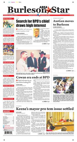 Burleson Area Star (Burleson, Tex.), Vol. 49, No. 18, Ed. 1 Wednesday, December 25, 2013