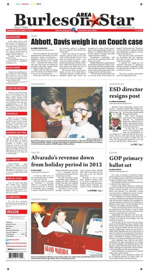 Burleson Area Star (Burleson, Tex.), Vol. 49, No. 16, Ed. 1 Wednesday, December 18, 2013