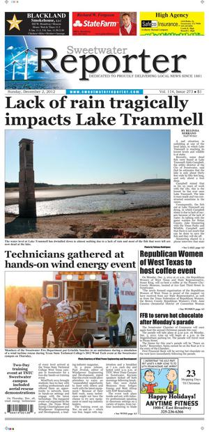 Sweetwater Reporter (Sweetwater, Tex.), Vol. 114, No. 273, Ed. 1 Sunday, December 2, 2012