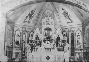 Primary view of object titled '[Altar of the new Holy Rosary Catholic Church in Rosenberg]'.