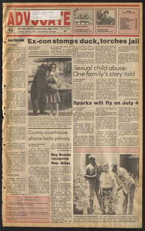 Primary view of Cleveland Advocate (Cleveland, Tex.), Vol. 68, No. 25, Ed. 1 Friday, June 26, 1987