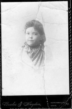 [Bust photograph of a young girl]