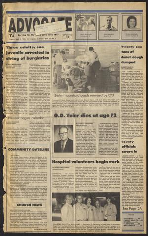 Primary view of Cleveland Advocate (Cleveland, Tex.), Vol. 68, No. 1, Ed. 1 Friday, January 9, 1987