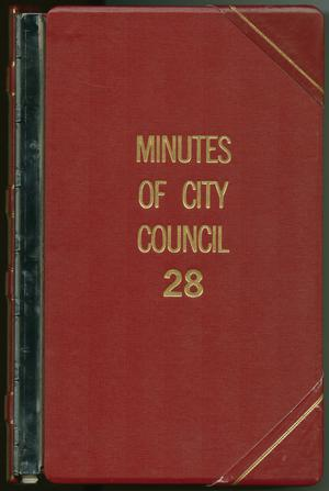 Primary view of object titled '[Abilene City Council Minutes: 1987]'.