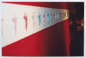 Photograph of Crucifixes on an Exhibit Wall, Young Latino Artists