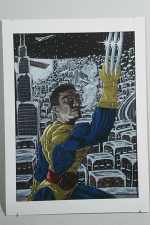 Primary view of object titled '[Painting of a Superhero]'.