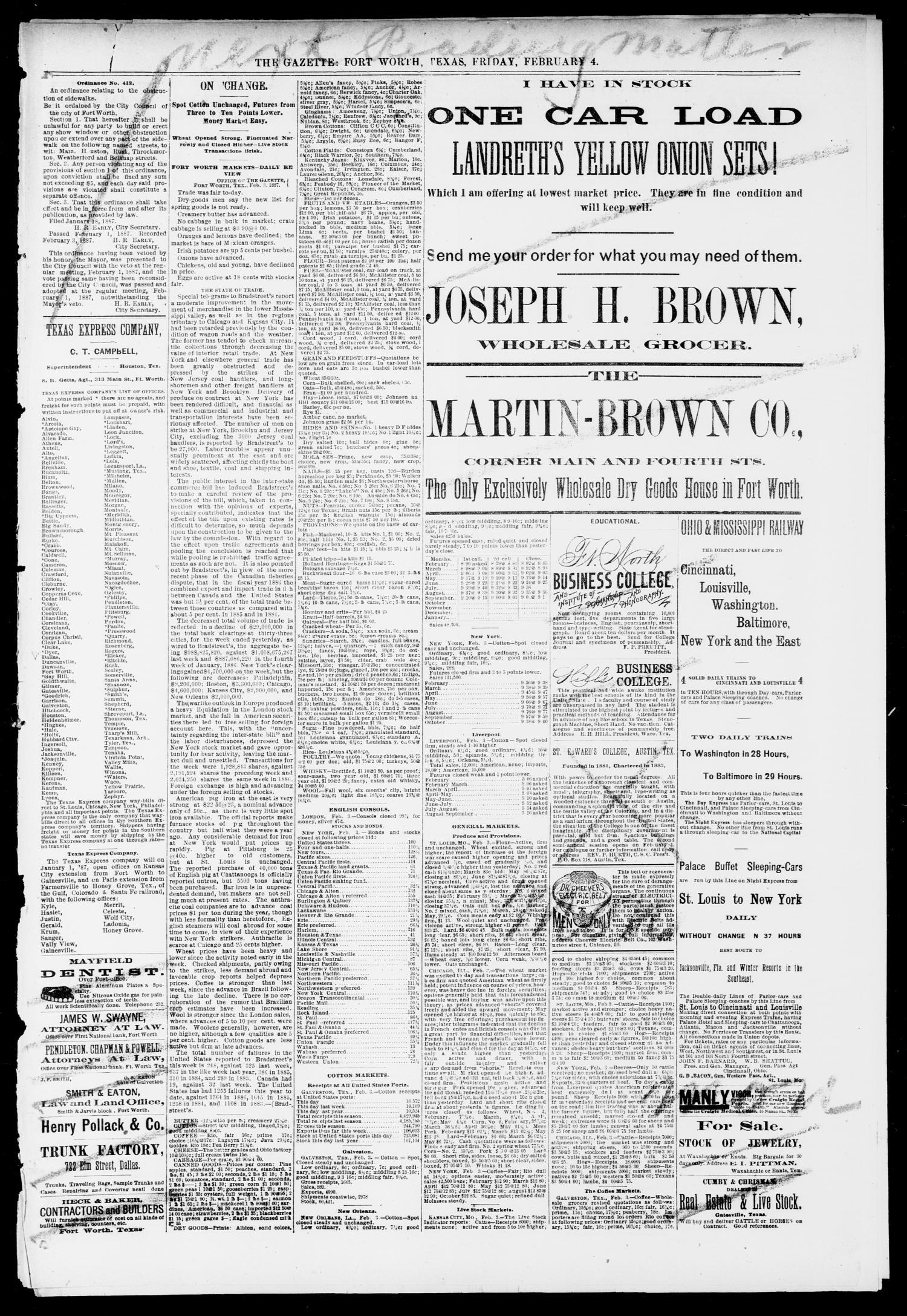 Fort Worth Daily Gazette  (Fort Worth, Tex ), Vol  12, No