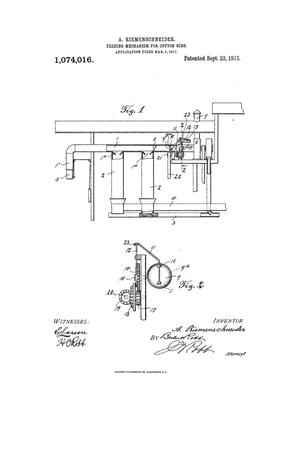 Primary view of object titled 'Feeding Mechanism for Cotten-Gins'.