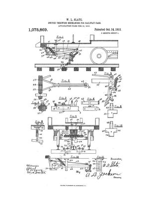 Primary view of object titled 'Switch-Throwing Mechanism for Railway-Cars.'.