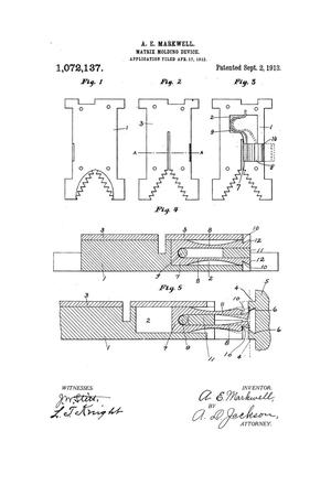 Primary view of object titled 'Matrix-Molding Device'.