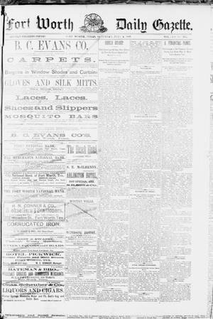 Primary view of Fort Worth Daily Gazette. (Fort Worth, Tex.), Vol. 12, No. 335, Ed. 1, Saturday, July 2, 1887