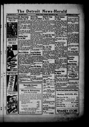 Primary view of object titled 'The Detroit News-Herald (Detroit, Tex.), Vol. 19, No. 24, Ed. 1 Thursday, September 11, 1947'.