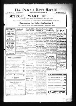 Primary view of object titled 'The Detroit News-Herald (Detroit, Tex.), Vol. 19, No. 22, Ed. 1 Thursday, September 5, 1946'.