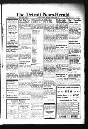 Primary view of object titled 'The Detroit News-Herald (Detroit, Tex.), Vol. 14, No. 48, Ed. 1 Thursday, February 26, 1942'.