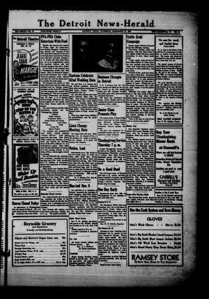 Primary view of object titled 'The Detroit News-Herald (Detroit, Tex.), Vol. 19, No. 35, Ed. 1 Thursday, November 27, 1947'.