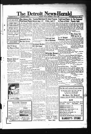 Primary view of object titled 'The Detroit News-Herald (Detroit, Tex.), Vol. 15, No. 2, Ed. 1 Thursday, April 9, 1942'.