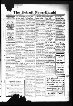 Primary view of object titled 'The Detroit News-Herald (Detroit, Tex.), Vol. 15, No. 45, Ed. 1 Thursday, February 11, 1943'.