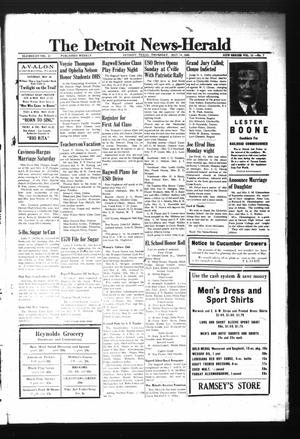 Primary view of object titled 'The Detroit News-Herald (Detroit, Tex.), Vol. 15, No. 7, Ed. 1 Thursday, May 14, 1942'.