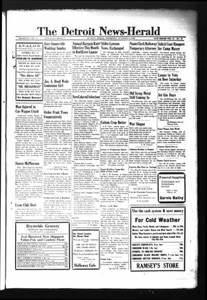 Primary view of object titled 'The Detroit News-Herald (Detroit, Tex.), Vol. 15, No. 28, Ed. 1 Thursday, October 15, 1942'.