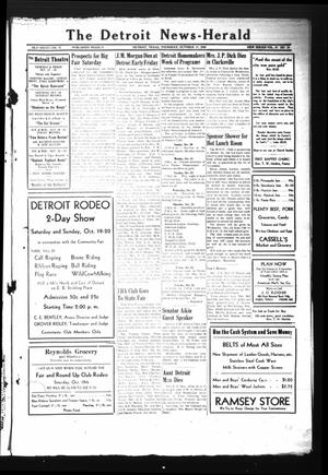 Primary view of object titled 'The Detroit News-Herald (Detroit, Tex.), Vol. 19, No. 28, Ed. 1 Thursday, October 17, 1946'.