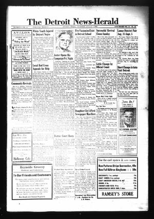 Primary view of object titled 'The Detroit News-Herald (Detroit, Tex.), Vol. 15, No. 18, Ed. 1 Thursday, August 6, 1942'.