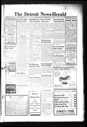 Primary view of object titled 'The Detroit News-Herald (Detroit, Tex.), Vol. 16, No. 21, Ed. 1 Thursday, August 19, 1943'.