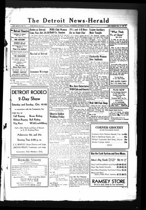 Primary view of object titled 'The Detroit News-Herald (Detroit, Tex.), Vol. 19, No. 27, Ed. 1 Thursday, October 10, 1946'.