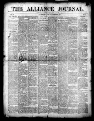 Primary view of object titled 'The Alliance Journal. (Clarksville, Tex.), Vol. 2, No. 49, Ed. 1 Wednesday, November 20, 1889'.