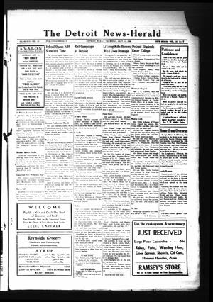 Primary view of object titled 'The Detroit News-Herald (Detroit, Tex.), Vol. 18, No. [24], Ed. 1 Thursday, September 13, 1945'.